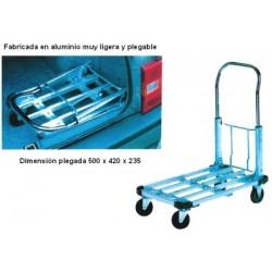 Carro-Plataforma Aluminio - Ruedas Macizas