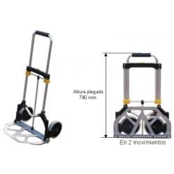 Carro Aluminio Plegable 200kg - Ruedas Macizas
