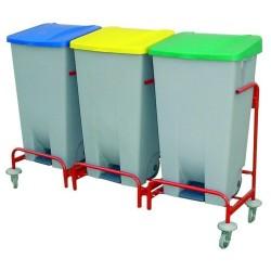 Carro Reciclaje - 2 Cubos