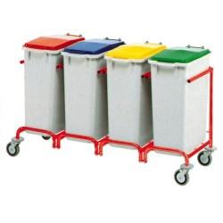 Carro Reciclaje - 3 Cubos