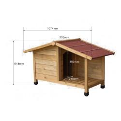 Caseta para perro - 1070x550x620mm