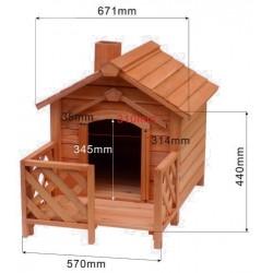 Caseta para perro - 690x620x570mm