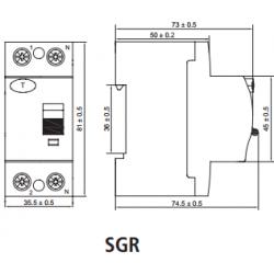 Interruptor Diferencial SGR Clase AC