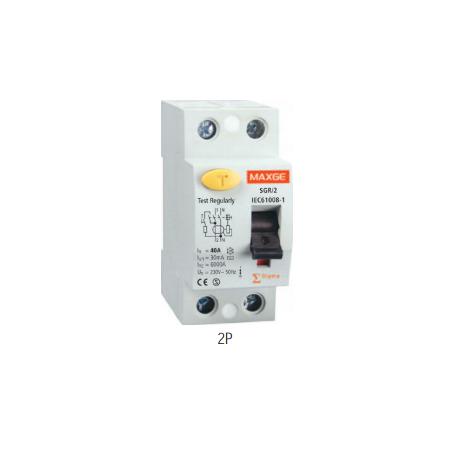 Interruptor Diferencial SGR, 25A, 10mA Clase AC