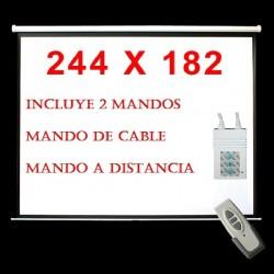 "Pantalla Proyeccion ELECTRICA  113""  (203x203cm) * Motor + Mando a distancia *"