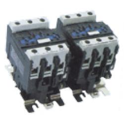 Contactor inversor 3P 3NO con mando en AC rango 9~95A, 230V AC 20A, 7.5 CV