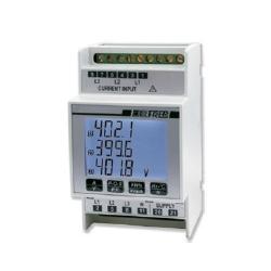 Analizador miniaturizado LCD con medida de THD y comunicación RS485 - 230V AC/DC