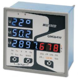Analizador LED con comunicación RS485 - Con alarma de pulsos