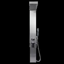 Ducha Acero Inoxidable - con termostato, chorros de masaje y ducha fija.