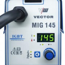 SOLDADOR VECTOR MIG 145A 4 EN 1 MIG MAG + TIG + ELECTRODO