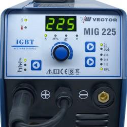 SOLDADOR VECTOR MIG225A MIG MAG + TIG + ELECTRODO