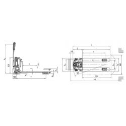 TRANSPALETA ELECTRICA ELEQTRA 540 x 1150 – 1200 kg.