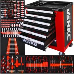 Detalle carro y bandejas Carro herramientas VERKE - 250 Piezas