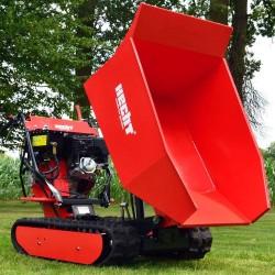Detalle volcado Mini Dumper HECHT 2950 - 500 kg