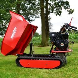 Detalle volcado lateral Mini Dumper HECHT 2950 - 500 kg
