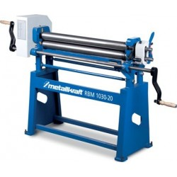 Plegadora de Cilindros de Curvar Manuales METALLKRAFT RBM1000-20Eco