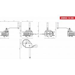 Cabrestante Autoblocante con Freno DRAGON WINCH DWK-O 1200 HD - 540 Kg - Esquema