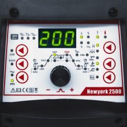SOLDADOR INVERTER NEWYORK 2500 5 EN 1 AC/DC TIG 200P ALU MMA + PLASMA - VECTOR WELDING - PANTALLA