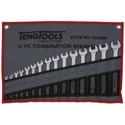 Llaves Combinadas 15 piezas Bolsa Enrollable - TENGTOOLS - 6515MM