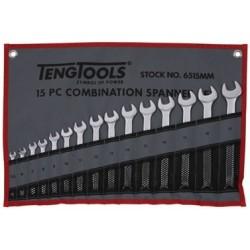 Llaves Combinadas 15 piezas Bolsa Enrollable - TENGTOOLS - 6515MM