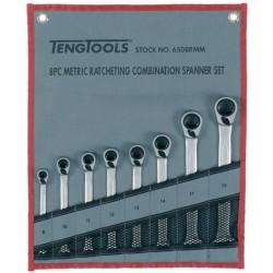 Llaves Combinadas con Carraca 8 piezas - TENGTOOLS
