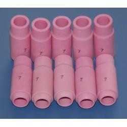 5 x Tobera Ceramica  GAS TIG  Tipo: 6