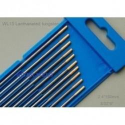 10 x Electrodos de Tunsgteno  1,6mm Tipo:ORO