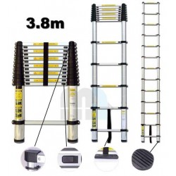 Escalera extensible telescópica 3,8M - Aluminio