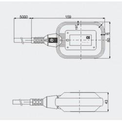 Presostato Bomba de Agua 230V - 6A (con enchufe)