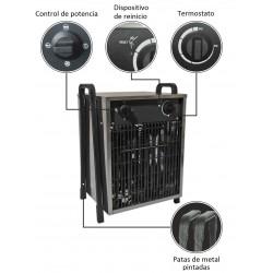 Calefactor Eléctrico INOX EL15 - 7500W