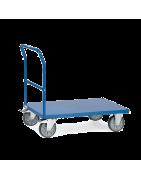 Plataformas con una barandilla de empuje